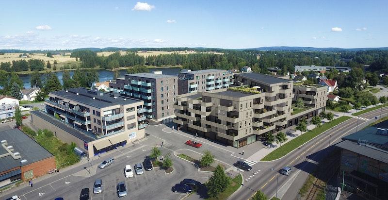 Prosjektet vil få en meget sentral beliggenhet - i hjertet av Sørumsand.
