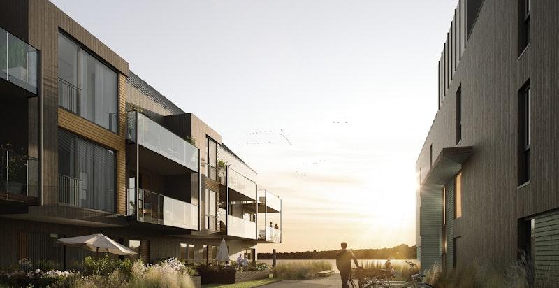 Velkommen hjem til en deilig avslappende solnedgang på din egen terrasse