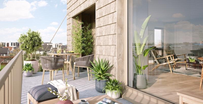 Takterrasser og store balkonger