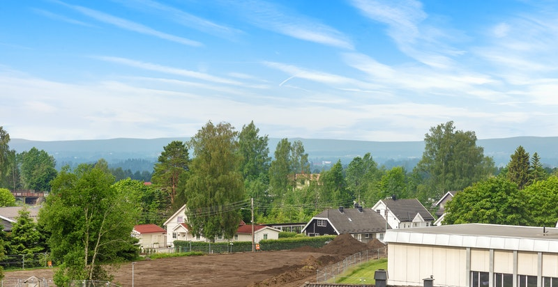 Utsikten fra leilighet B403