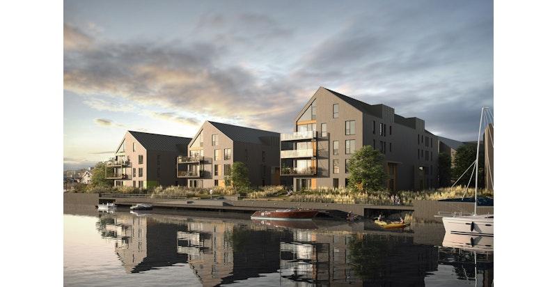 Nye leiligheter rett ved vannkanten