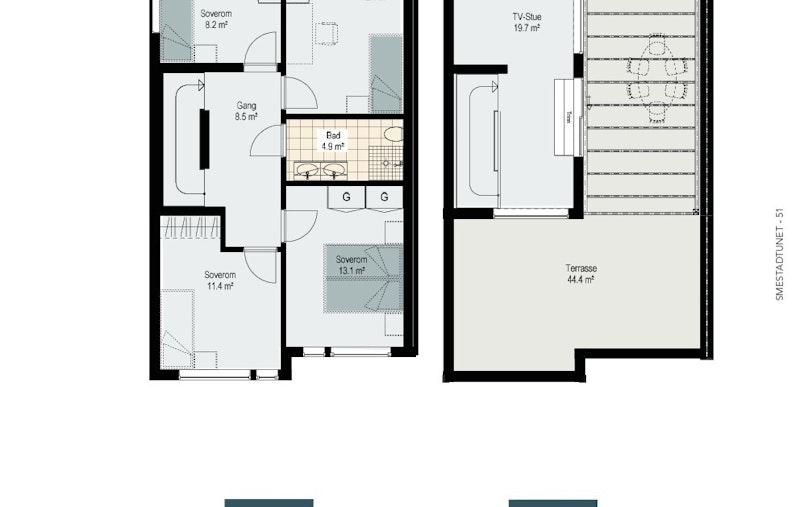 Hus 6 - etg 3 og 4