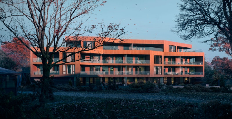 Fasade med høy arkitektonisk kvalitet