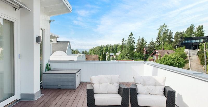 Takterrasse på 30 m² med gode solforhold