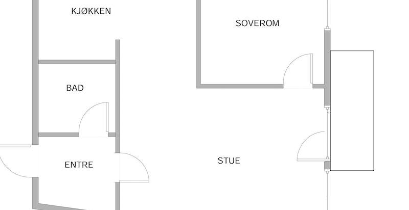 Planskisse med balkong - Ikke måleverdig
