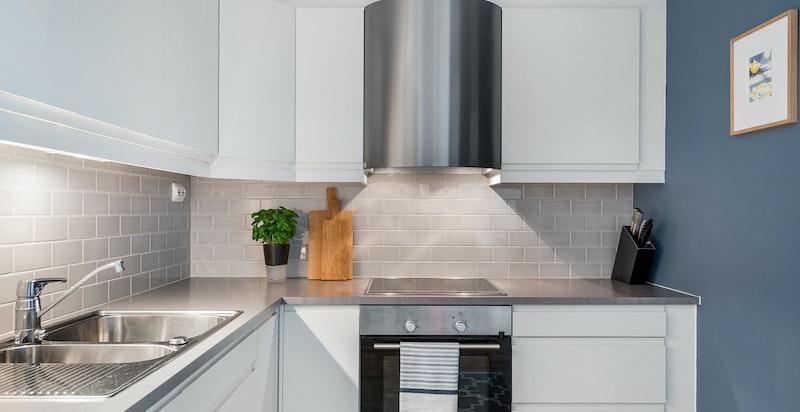 Moderne kjøkken med innredning fra Sigdal.