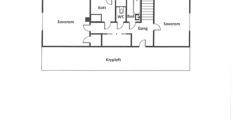 Planskisse - 2. etasje med kryploft