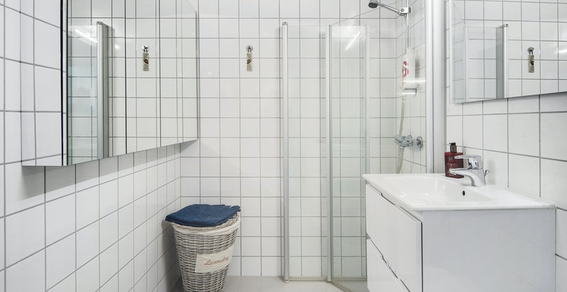 Lekkert bad med vannbåren gulvvarme (inkludert i fellesutgifter)