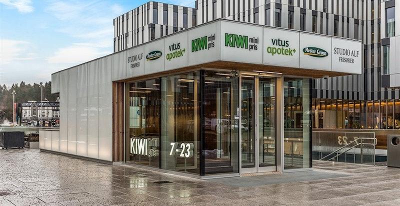Fornebuporten - Norges største Kiwi-butikk, blomsterbutikk, apotek, Local bar/restaurant