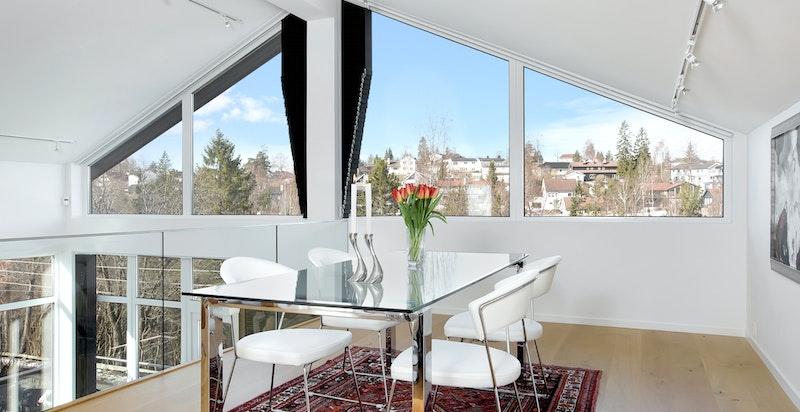Store vindusflater, med selvvaskende vinduer