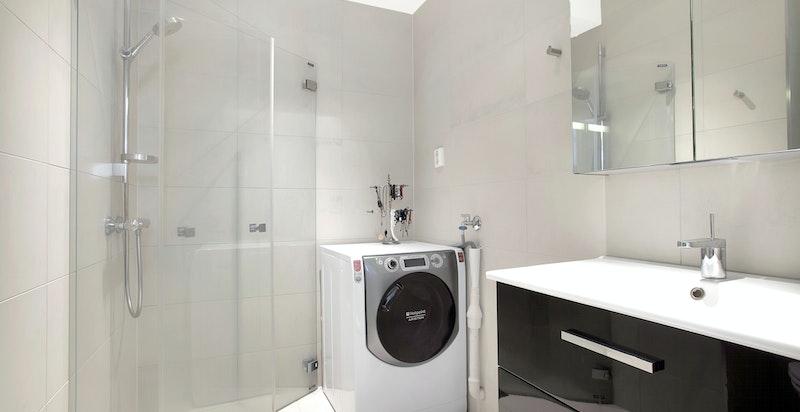 Praktikantdel: Baderom med opplegg for vaskemaskin