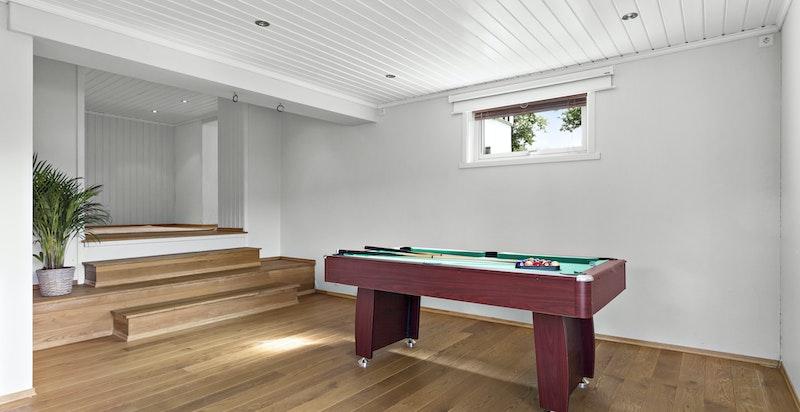 Rommet i midten vil kunne egne seg om man ønsker å innstallere en kjøkkenløsning