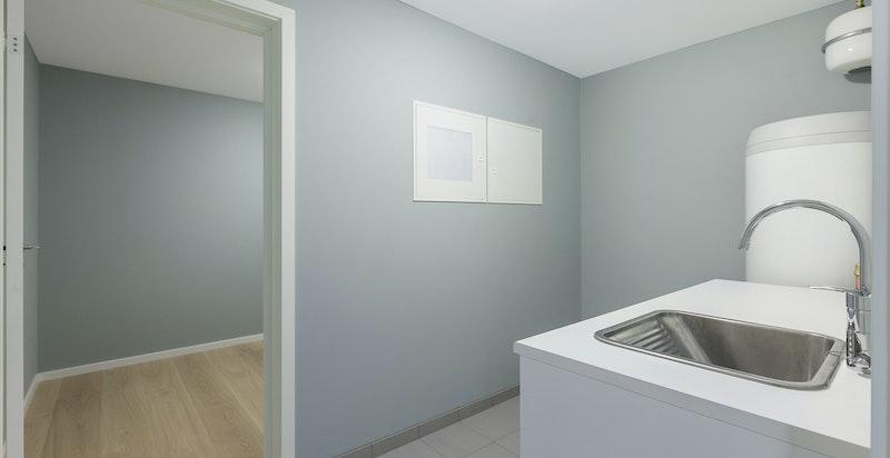 Vaskerom og bod i u. etasjen
