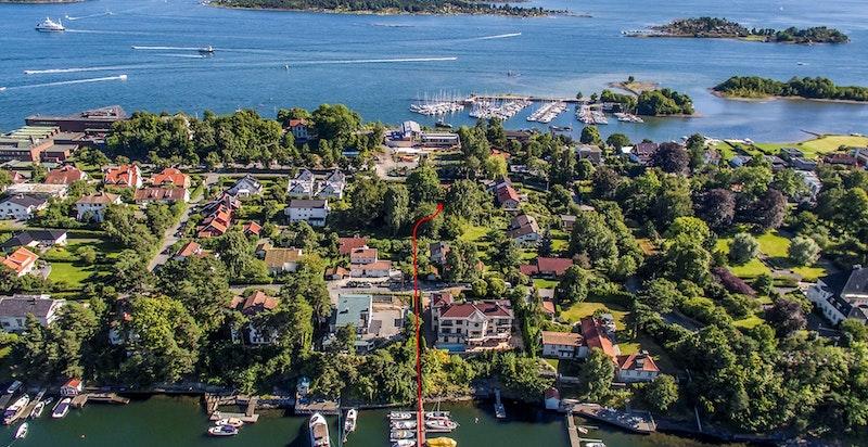 Medfølgende båtplass til leilighet 4 i Langviksbukta