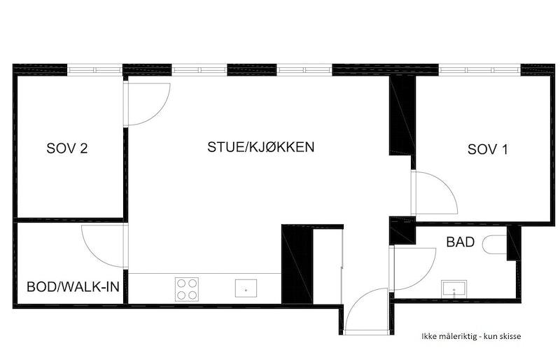 Planskisse leilighet 301