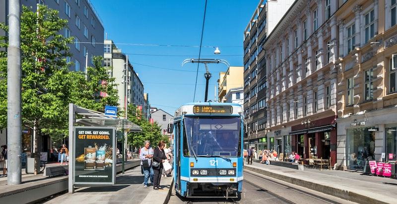 Bildet av området der Vibes gate møter Bogstadveien
