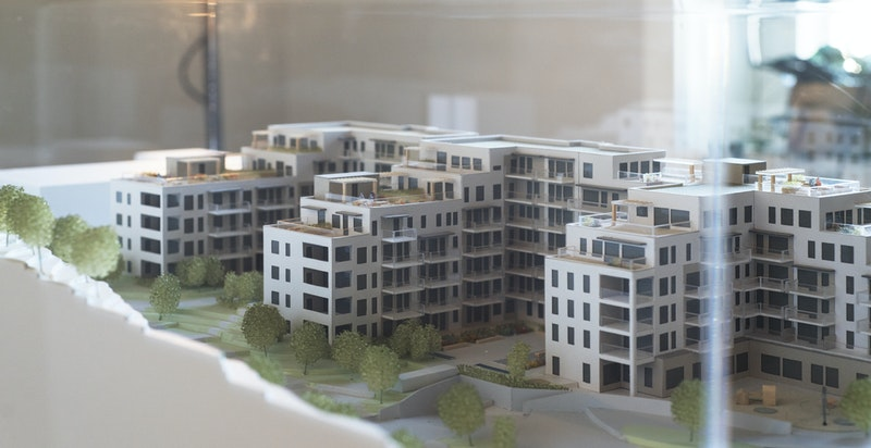 Gartnerboligen - modell av prosjektet.