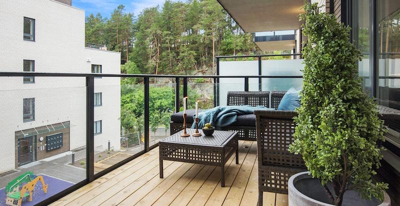 Bilde fra leilighet B3011 - romslig balkong
