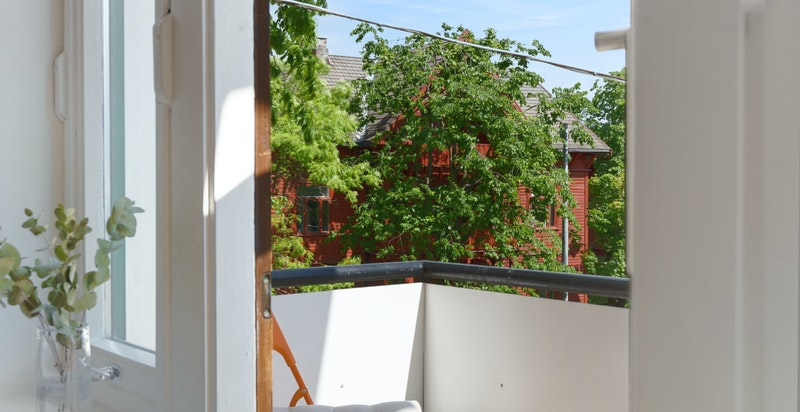 Sydvendt balkong
