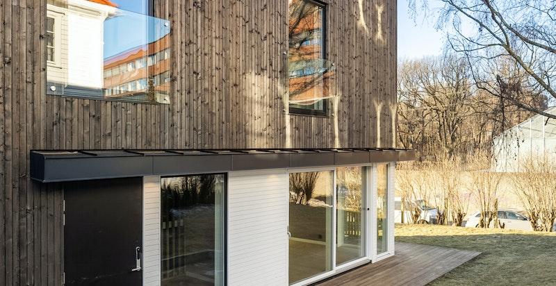 Moderne fasade og flott arkitektur