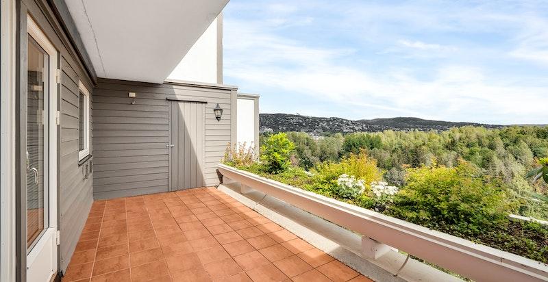 Bod ved enden av terrassen
