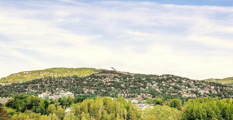 Fantastisk panoramautsikt mot både by...