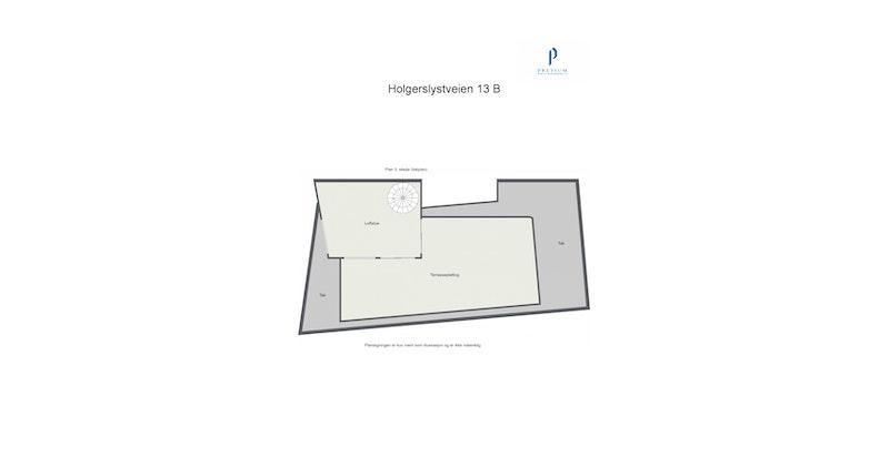 Plantegning loftstue / 3. etasje