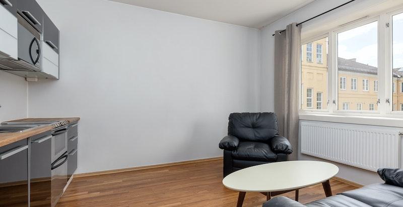 Denne delen av leiligheten er leid ut for 13.000kr/mnd som er skattefritt