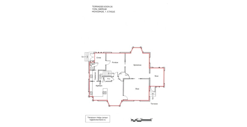 Plantegning - Hovedhuset 1. etasje