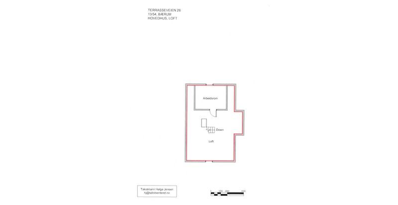Plantegning - Hovedhuset loft