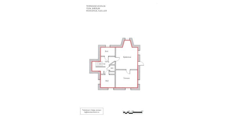 Plantegning - Hovedhuset kjeller