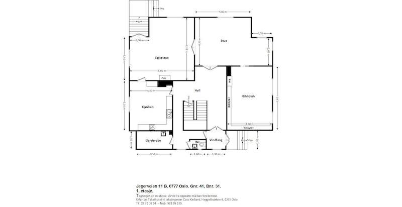 Jegerveien 11 B - Plantegning 1.etasje