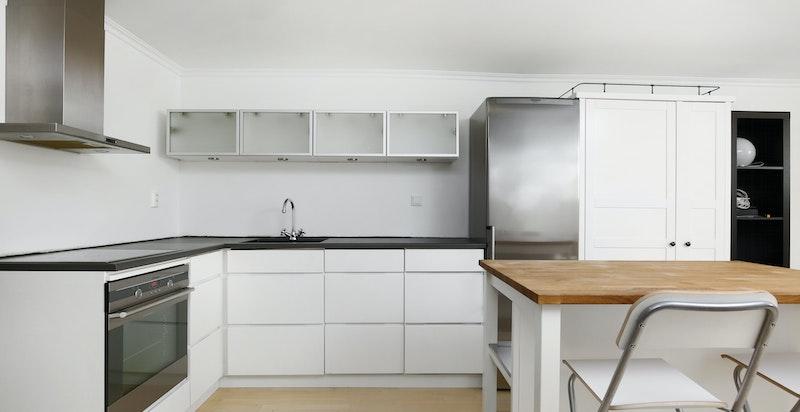 Kjøkken i hybel/praktikantdel i underetasjen