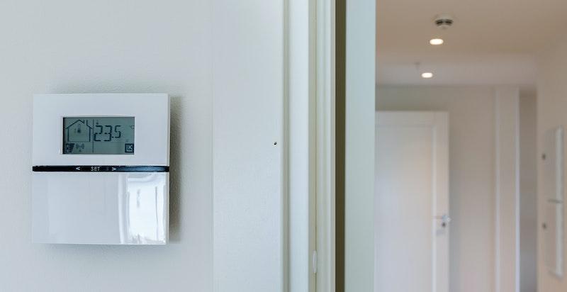 Detalj. Vannbåren gulvvarme (elektriske varmekabler på bad).