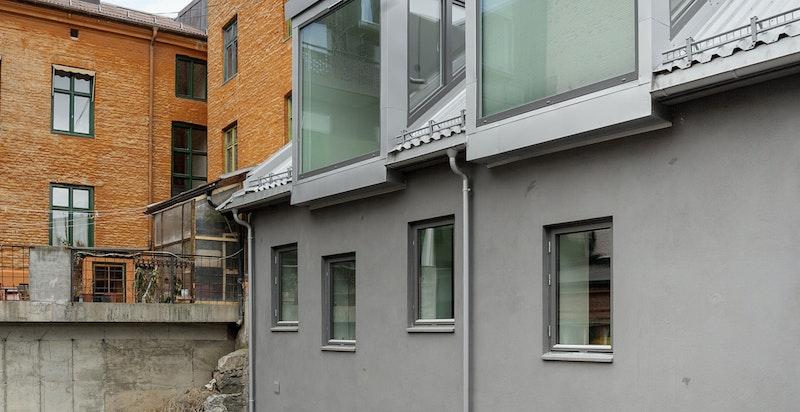 Fasade mot bakgård