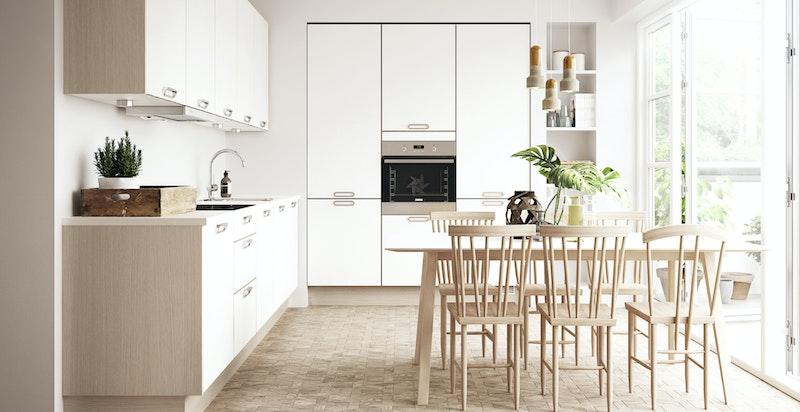 Illustrasjon av kjøkken fra annen leilighet.