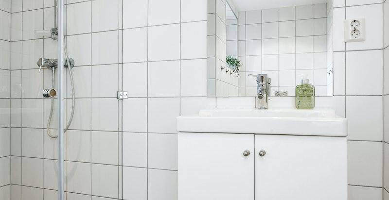 Bad II - flislagt med varmekabler i gulv
