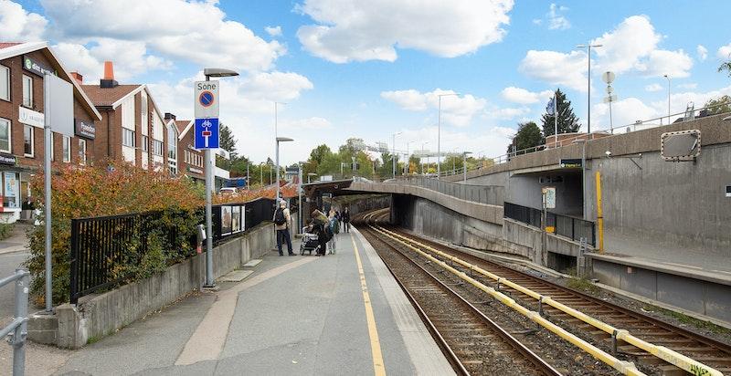 -Svært kort gangavstand til Smestad T-banestasjon
