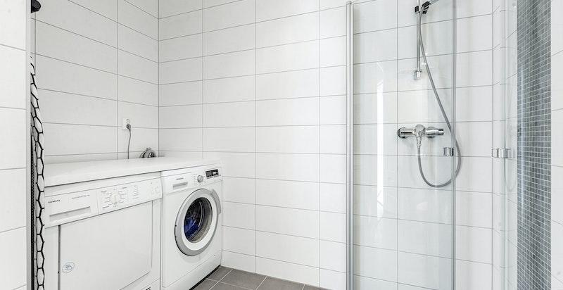 Opplegg til vask/tørk på bad nr. 2