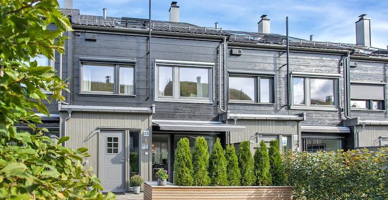 Pent og moderne rekkehus i attraktivt område på Voksenkollen