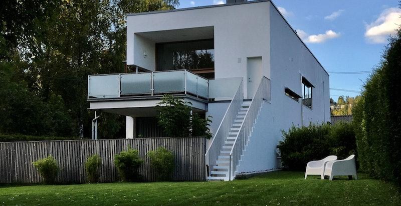 Fasade sett fra hagen til seksjon 2