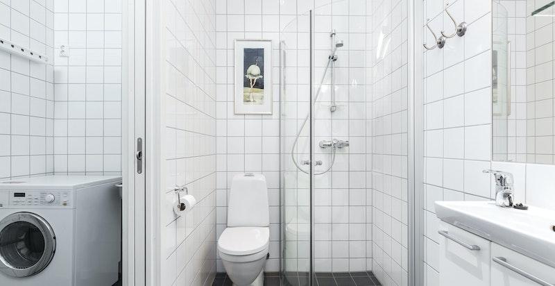 Gjestebad tilknyttet vaskerom