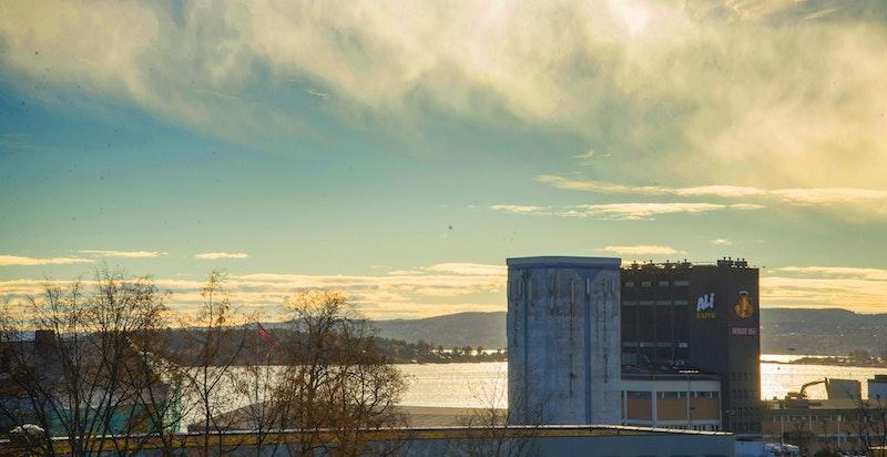 Nydelig utsikt mot sjøen og Aker Brygge/Tjuvholmen