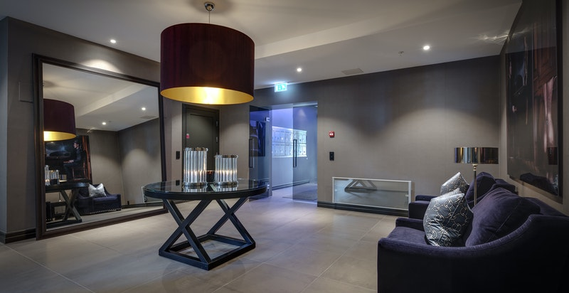 Eksklusive fellesarealer, lounge i inngangspartiet