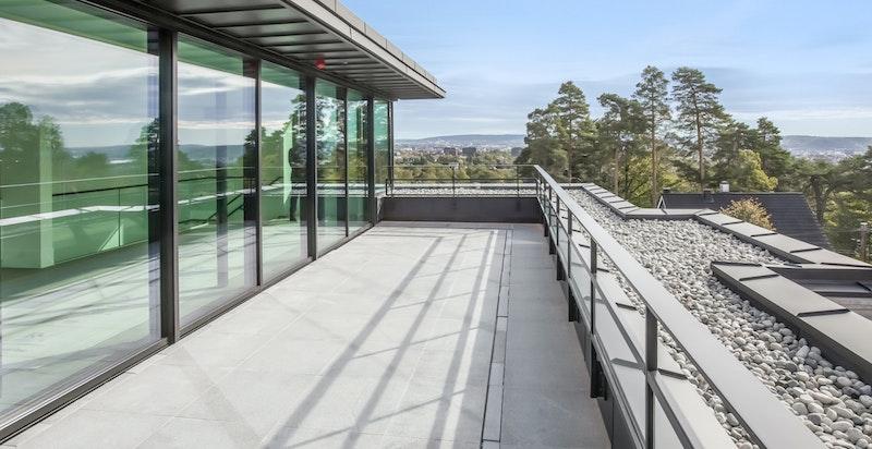 Privat takterrasse ca. 40 m²