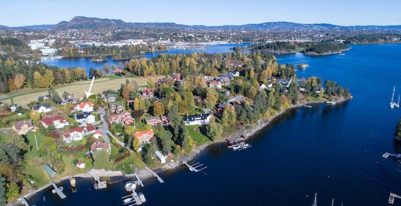 Flyfoto av området