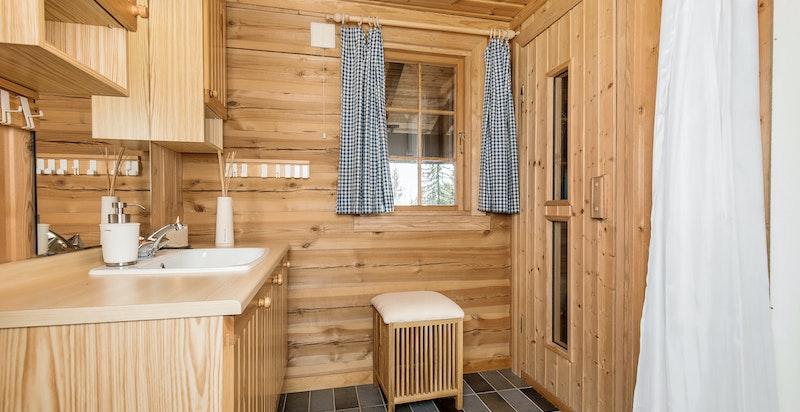 Bad med tillgang til badstue