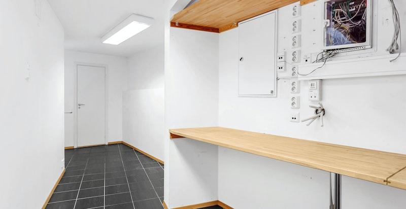 Lagringsplass med wc i endren av gangen