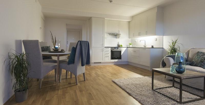 Romslig stue/kjøkken