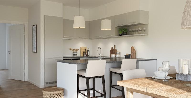 Illustrasjonsbilde fra kjøkken i prosjektet.